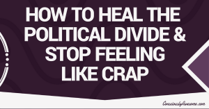 How to Heal the Political Divide & Stop Feeling Like Crap