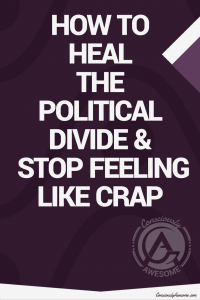 Consciously Awesome ~ How To Heal The Political Divide & Stop Feeling Like Crap