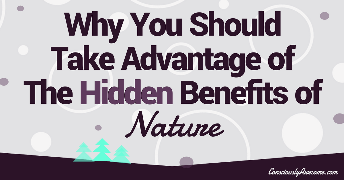 Why You Should Take Advantage of The Hidden Benefits of Nature